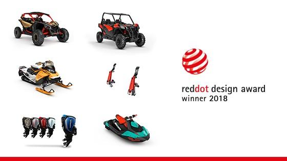 BRP récompensé par six prix Red Dot qui reconnaissent le design de leurs produits