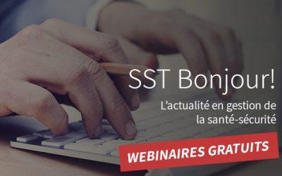 La SST offre 6 webinaires gratuits pour assurer santé et sécurité au travail