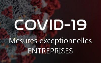 Résumé des mesures exceptionnelles reliées au COVID-19 – ENTREPRISES