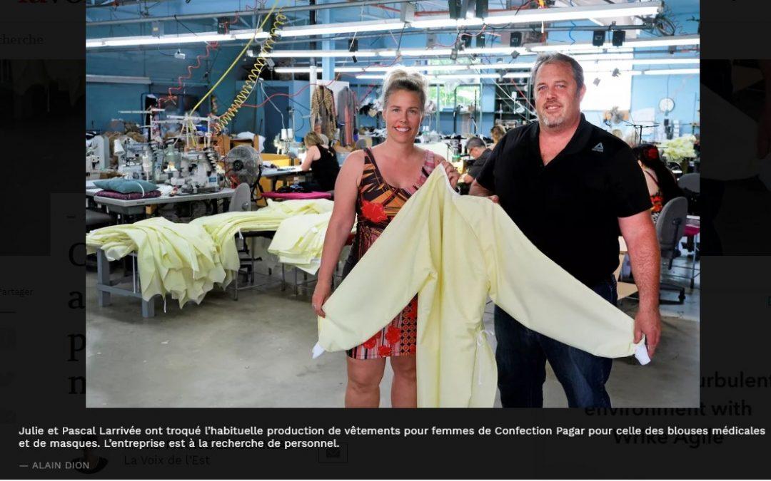 Confection Pagar s'est aussi lancée dans la production de blouses médicales