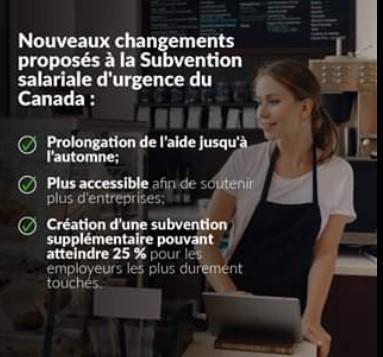 Subvention salariale d'urgence (SSUC) prolongée et assouplie