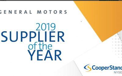 Félicitations Cooper Standard, lauréat du prix fournisseur de l'année par General Motors
